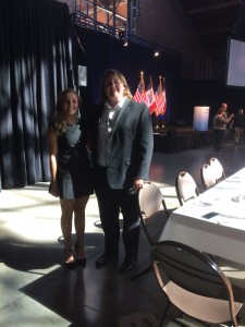 Iowa Caucus Team members Rebecca and Logan at The Faith and Freedom Coalition dinner.