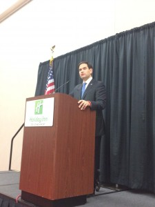 Sen. Marco Rubio speaks at  an event hosted by the American Renewal Project on Nov. 24. Photo by Bri Steirer.