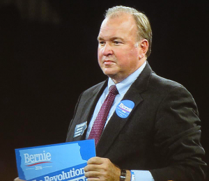 U.S. Senate candidate To Fiegen, who endorsed Bernie Sanders for president.