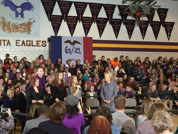 Hillary Clinton in Keota, IA Dec. 22, 2015 Photo by Ellen Bruegger