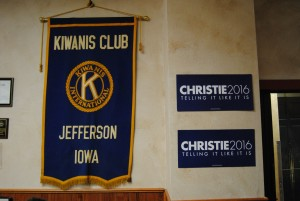 Uptown Cafe and Kiwanis Headquarters in Jefferson hosts Chris Christie Photo by Skylar Borchardt