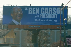 2016 Committee Billboard for Ben Carson Photo by Skylar Borchardt