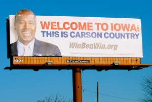 Is Iowa Carson Country? We'll find out on Feb. 1. Photo by Skylar Borchardt