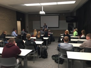 Drake College Republicans questions BJ Carson.