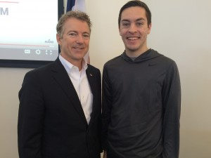 Ryan Tunink and Rand Paul being awkward together.