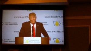 Donald Trump speaks at the 10th Annual Renewable Fuels Summit. (photo by Jingting Huang)